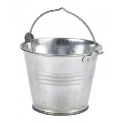 Galvanised Steel Serving Bucket 7cm Dia. 4oz 12.5cl capacity