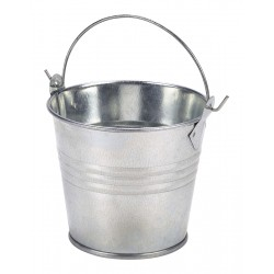 Galvanised Steel Serving Bucket 8.5cm Dia. Height 7cm - 30cl/10.6oz