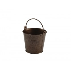 Galvanised Steel Hammered Serving Bucket 10cm Dia. Copper