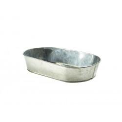 Galvanised Steel Serving Platter 24X15cm