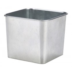 Galvanised Steel Square Tub 8X8X6cm 38cl/13.4oz