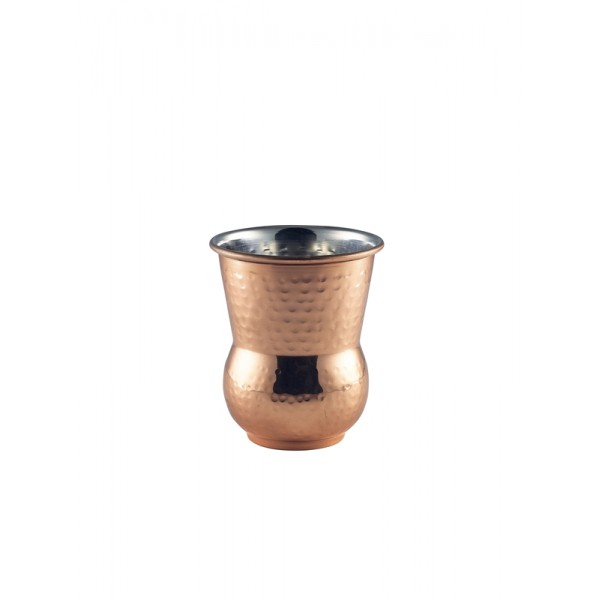 Moroccan Copper Hammered Tumbler 40cl/14oz 10 x 9cm (H x Dia.)