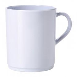 Genware 10oz Melamine Mug White (pack of 12)