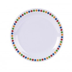 """Genware Melamine 6.25"""" Plate- Coloured Circle (pack of 12)"""