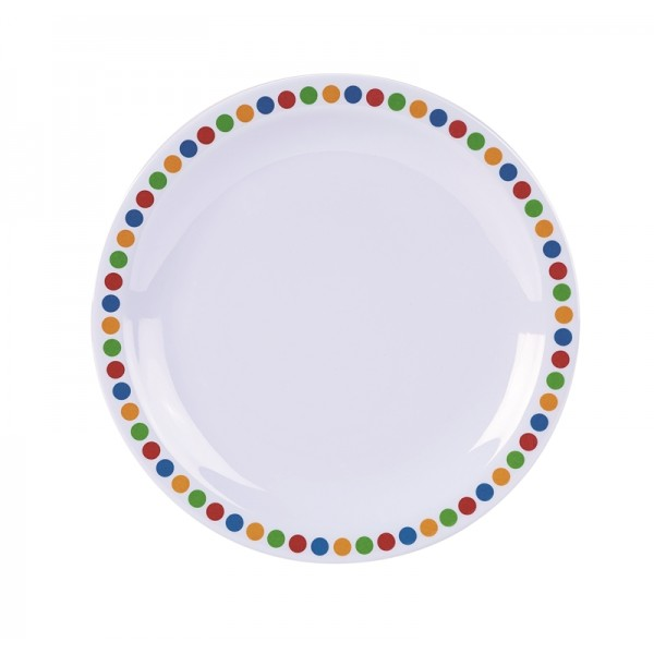 "Genware Melamine 6.25"" Plate- Coloured Circle (pack of 12)"