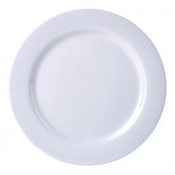 "Genware 7"" Melamine Plate White (pack of 12)"