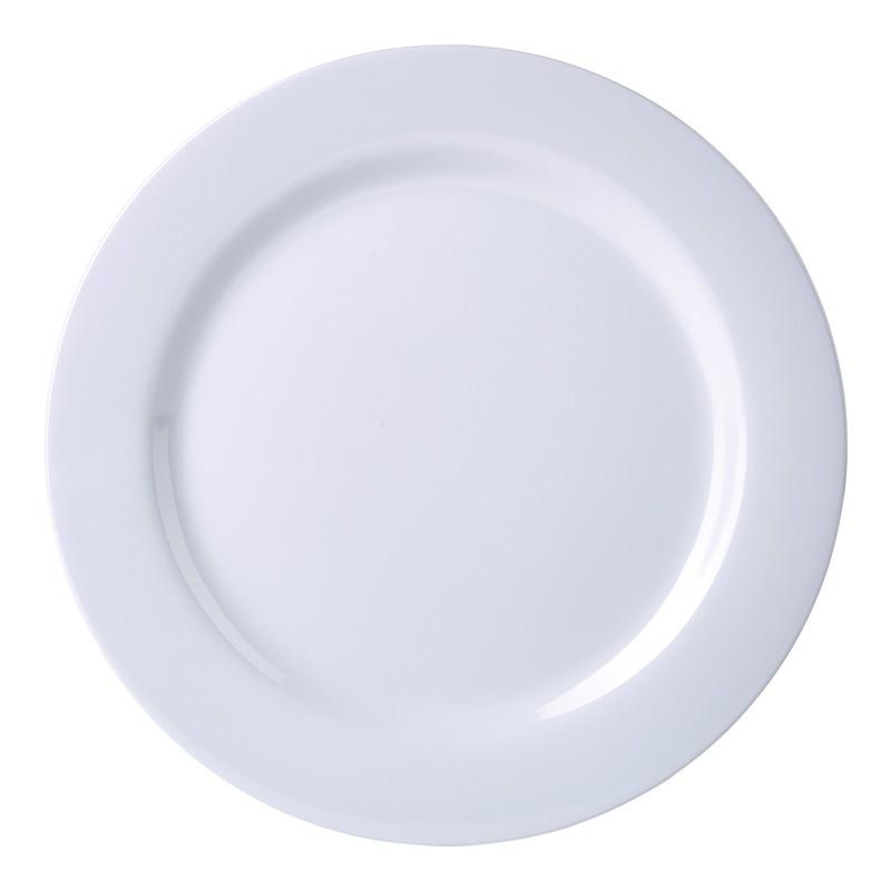 Genware 9 Quot Melamine Dinner Plate White