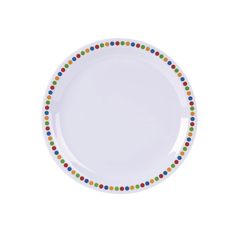 Genware Melamine 9 Quot Plate Coloured Circles