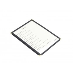 American Style Clear Menu Holder A5 2 Sides Facing