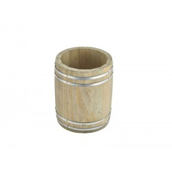 Miniature Wooden Barrel 11.5Dia. x 13.5cm