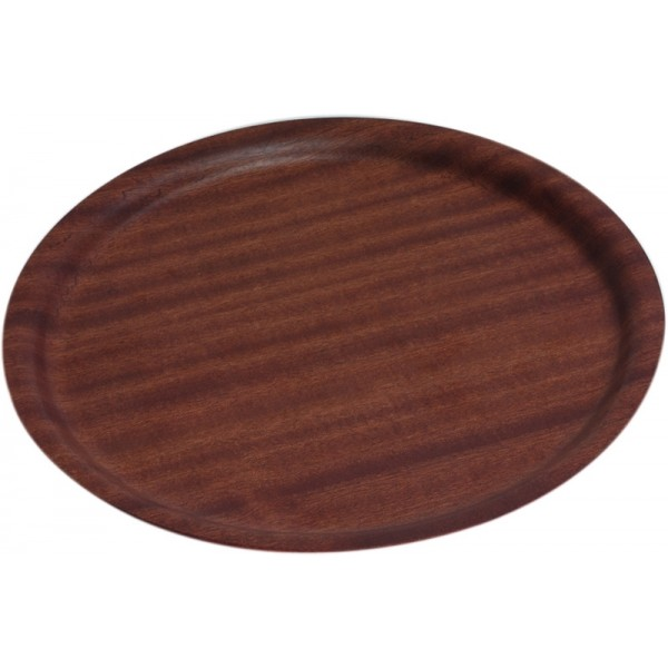 Darkwood Round Tray Non-Slip 270mm Dia