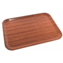 Non-Slip Darkwood Tray 460 X 340mm