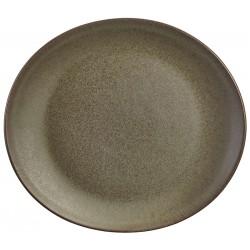 Terra Stoneware Antigo Oval Plate 25x22cm (Pack of 12)