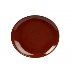 Terra Stoneware Rustic Red Oval Plate 25x22cm (pack of 12)