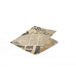 Greaseproof Paper Bags Brown Newspaper Print