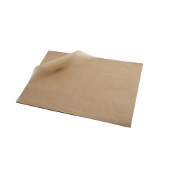 Greaseproof Paper Brown 25 x 20cm 1000 Sheets per Parcel