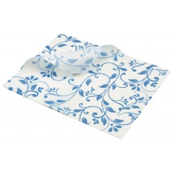 Greaseproof Paper Blue Floral Print 25 x 20cm
