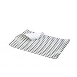 Greaseproof Paper Black Gingham Print 25 x 20cm 1000 Sheets per Parcel