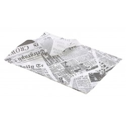 Greaseproof Paper White Newspaper Print 25 x 35cm (1000)