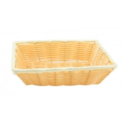 "Rectangular Polywicker Basket 16""X11""X3"""