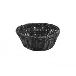 Black Round Polywicker Basket 21Dia. x 8cm