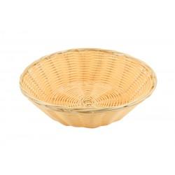 """Round Polywicker Basket 9.5""""Dia X 2.5"""" Deep"""