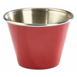 2.5oz Stainless Steel Ramekin Red 5.7cm dia, 4cm height