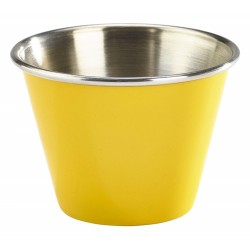 2.5oz Stainless Steel Ramekin Yellow 5.7cm dia, 4cm height