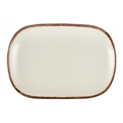 Terra Stoneware Sereno Brown Rectangular Plate 24 x 16.5cm