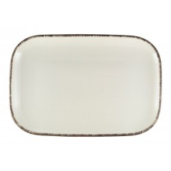 Terra Stoneware Sereno Grey Rectangular Plate 34.5 x 23.5cm