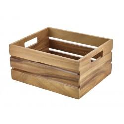 Acacia Wood Box/Riser GN 1/2 32.5x26.5x15.3cm