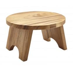 Acacia Wood Round Buffet Riser 30cm