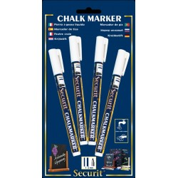 Chalkmarkers 4 Pack White Small 1-2mm Round Tip
