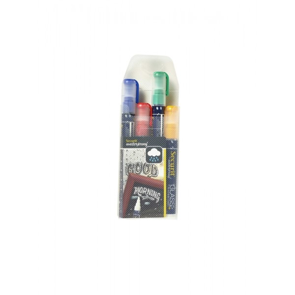 Waterproof Chalk Markers 4 Colour Pack (R, G, Y, Bl)