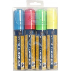 Chalkmarkers 4 Colour Pack (R,G,Y,Bl)