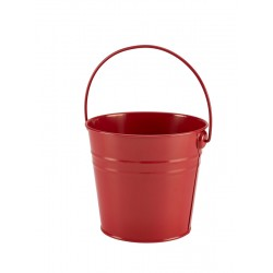 Stainless Steel Serving Bucket 16cm Dia. Red 14cm (H)