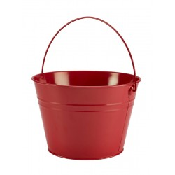 Stainless Steel Serving Bucket 25cm Dia. Red 17cm (H)