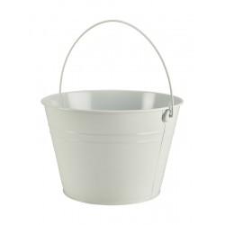 Stainless Steel Serving Bucket 25cm Dia. White 17cm (H)