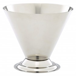 Stainless Steel Conical Sundae Cup 10cm dia x 8.5cm