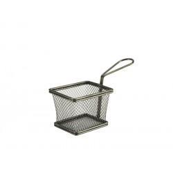 Black Serving Fry Basket Rectangular 10 x 8 x 7.5cm