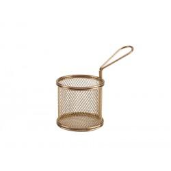 Copper Serving Fry Basket Round 9.3 x 9cm