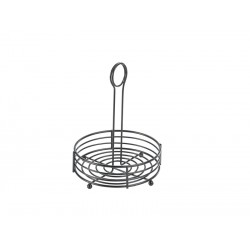 "Black Wire Table Caddy 6.5"" Dia. X 8.5"" (H)"
