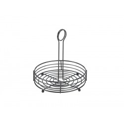 "Black Wire Table Caddy 8"" Dia. X 8.5"" (H)"