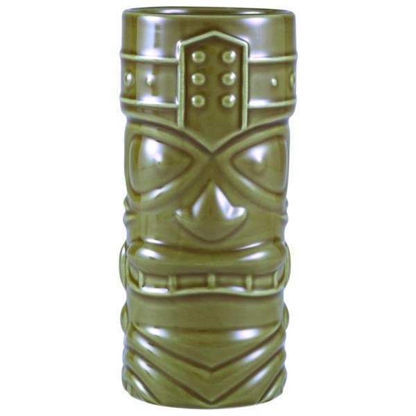 Green Tiki Mug 40cl/14oz 16.5 x 7.5cm (H x Dia.) (pack of 4)