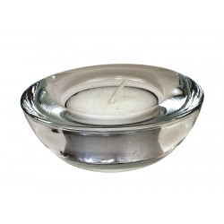 Genware Glass Round Tealight Holder 75mm Dia
