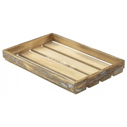 Wooden Crate Dark Rustic Finish 35X23X4cm