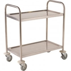 Fully Welded Stainless Steel  Trolley - 2 Shelves