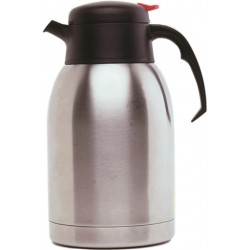 Stainless Steel Vacuum Push Button Jug 1.2L 200mm high      Base 140mm