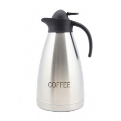 Coffee Inscribed Stainless Steel Contemporary Vac. Jug