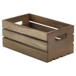 Wooden Crate Dark Rustic Finish 27 x 16 x 12cm